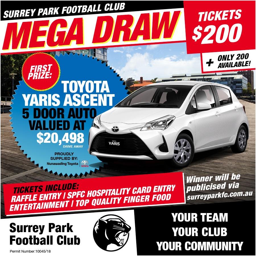 Reverse Draw Raffle - win a Car - Surrey Park - SportsTG