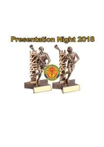 2018 Junior Presentation