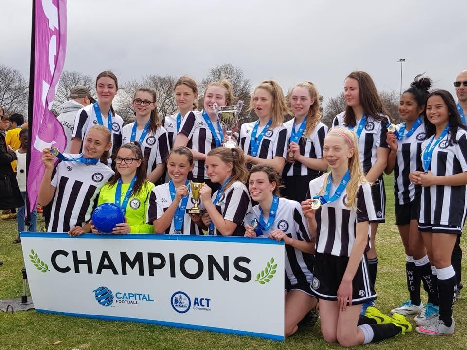 be69915558b U16 Div2 Girls Grand Final win 2018 - Weston Molonglo Football Club Inc -  SportsTG