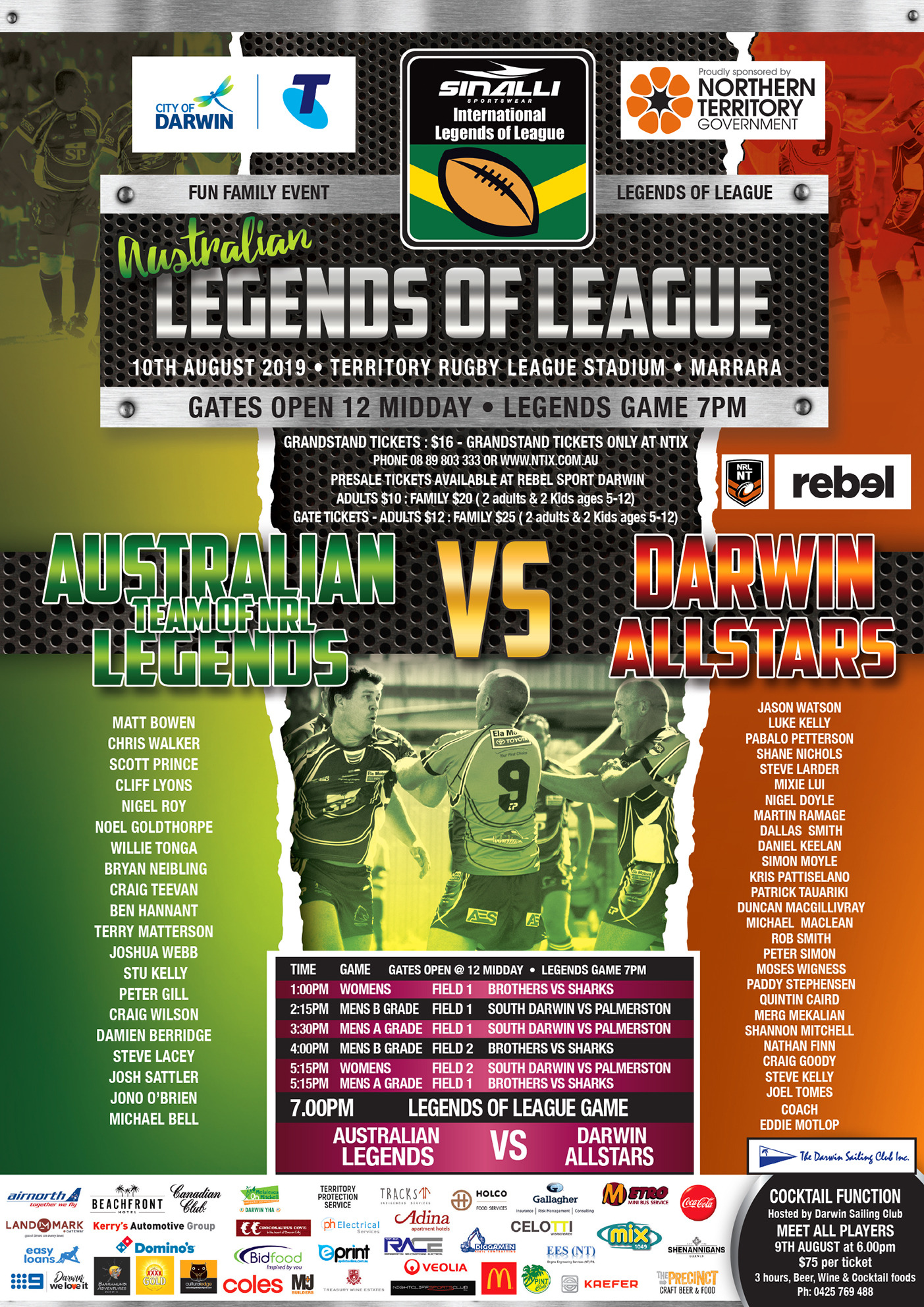Legends of League Match in Style - Northern Territory Rugby